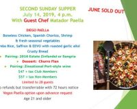 July 14 – Second Sunday Sunset Supper