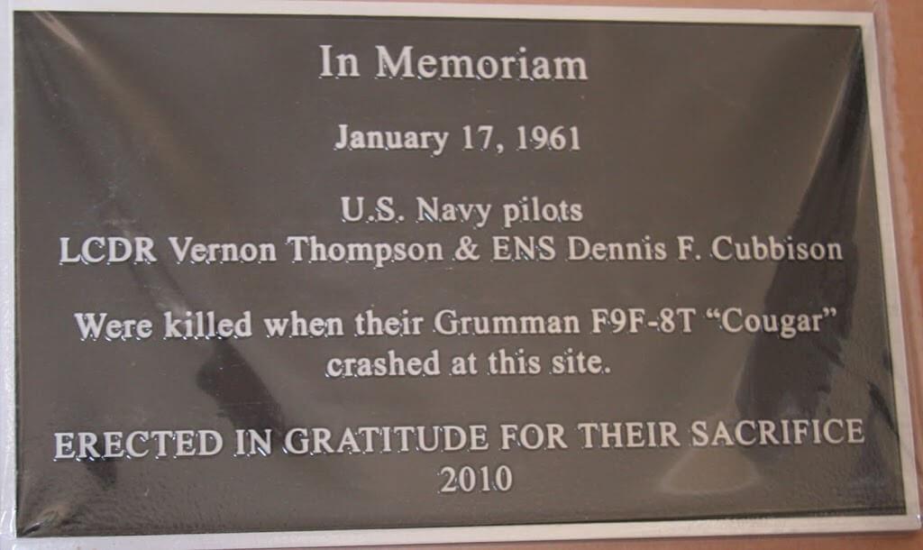 Navy Jet Crash January 1961