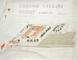 Architectural illustration of the vision for Hatfield Creek Vineyards