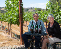 Norm and I with our award winning wines!