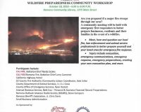October 18 – Ramona Fire Prevention & Preparedness Workshop